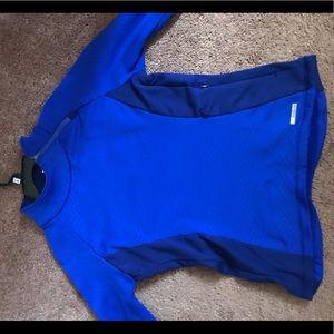 Blue workout top